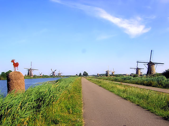キンデルダイクの風車群 Windmills at Kinderdijk, Netherlands 2011/06/02 Photo by Kohyuh